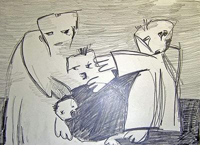 F097-05-Unfall-Bleistift